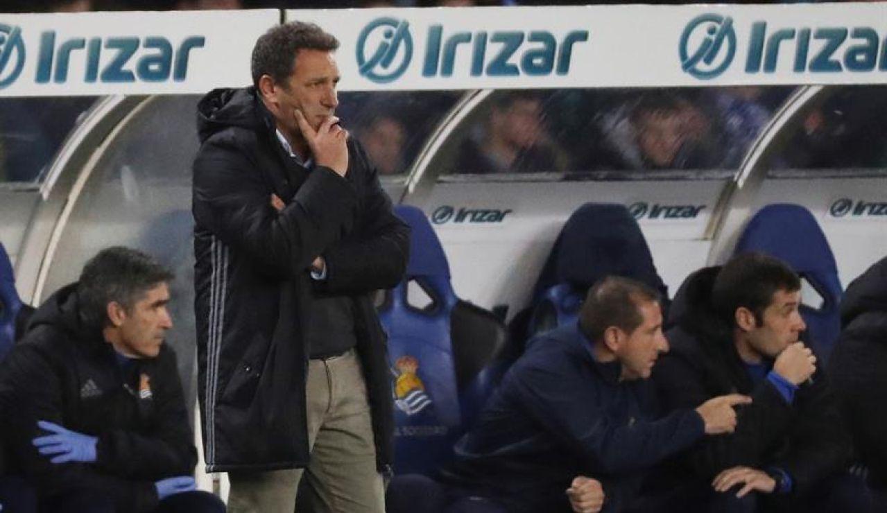 El entrenador de la Real Sociedad, Eusebio Sacristán.
