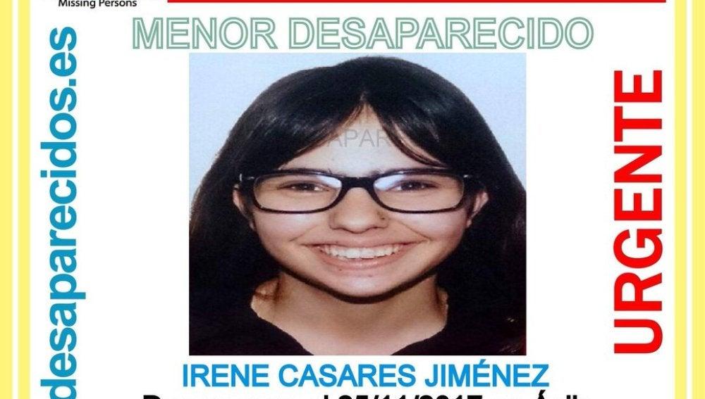 Irene Casares, desaparecida en Ávila