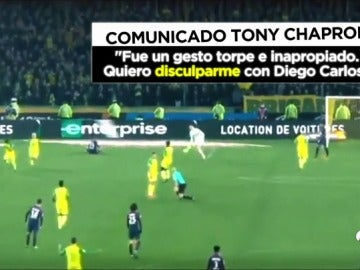 """El árbitro de la patada al jugador del Nantes pide perdón: """"Pido disculpas, fue un gesto torpe"""""""