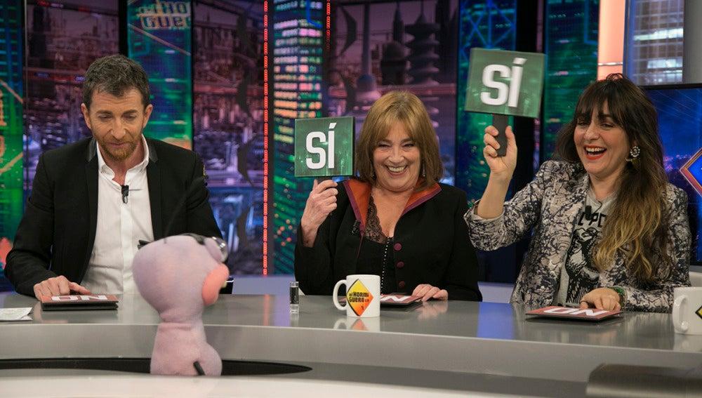 Carmen Maura y Candela Peña toman las decisiones más filosóficas de sus vidas en 'El Hormiguero 3.0'