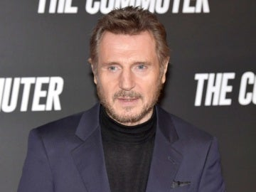 Liam Neeson presentando 'The Commuter'