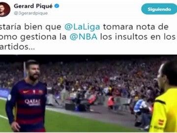 Piqué se fija en la NBA para acabar con los insultos en el fútbol