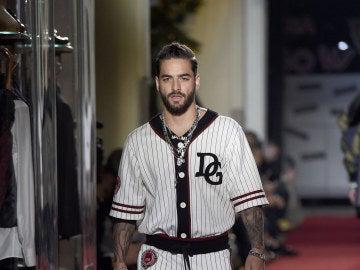 Maluma desfilando para Dolce & Gabbana