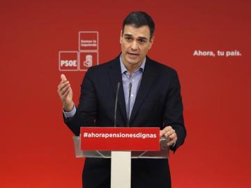 El líder del PSOE, Pedro Sánchez