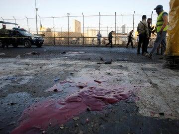 Imagen del escenario en el que ha tenido un doble atentado en Bagdad