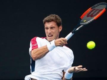 Pablo Carreño, durante su debut en el Open de Australia
