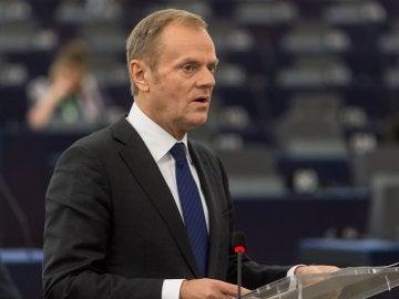 El presidente del Cosejo Europeo, Donald Tusk