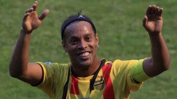 Ronaldinho, durante un partido