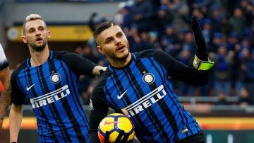 Mauro Icardi celebra un gol con el Inter de Milán