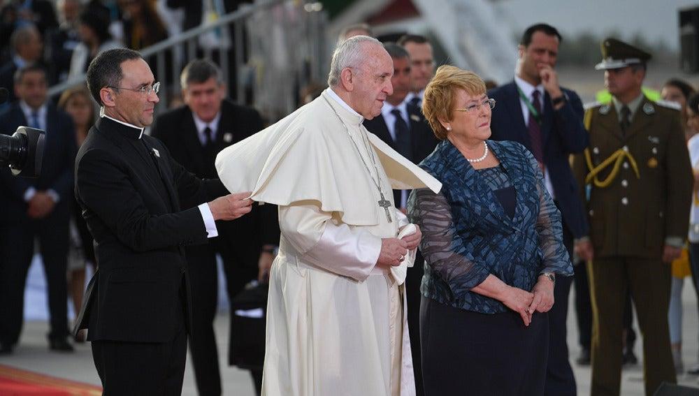 El Papa Francisco y la presidenta Bachelet