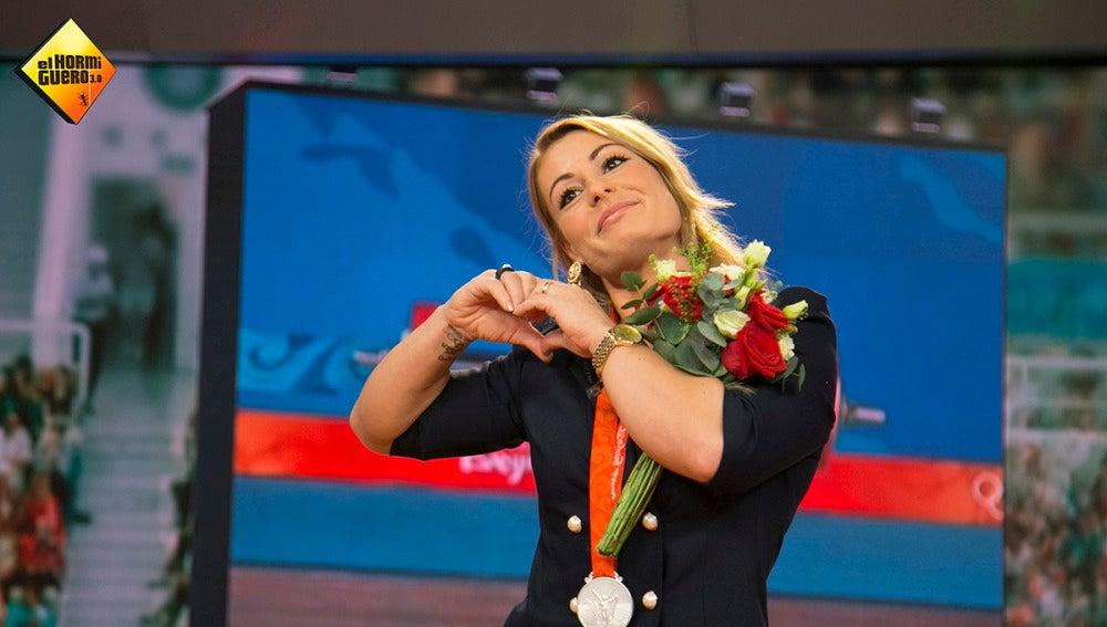 'El Hormiguero 3.0' entrega a Lydia Valentín la medalla más especial de su carrera
