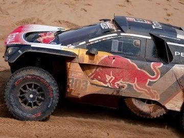 Carlos Sainz, durante el Dakar