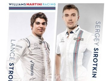 Stroll y Sirotkin, pilotos de Williams para la temporada 2018