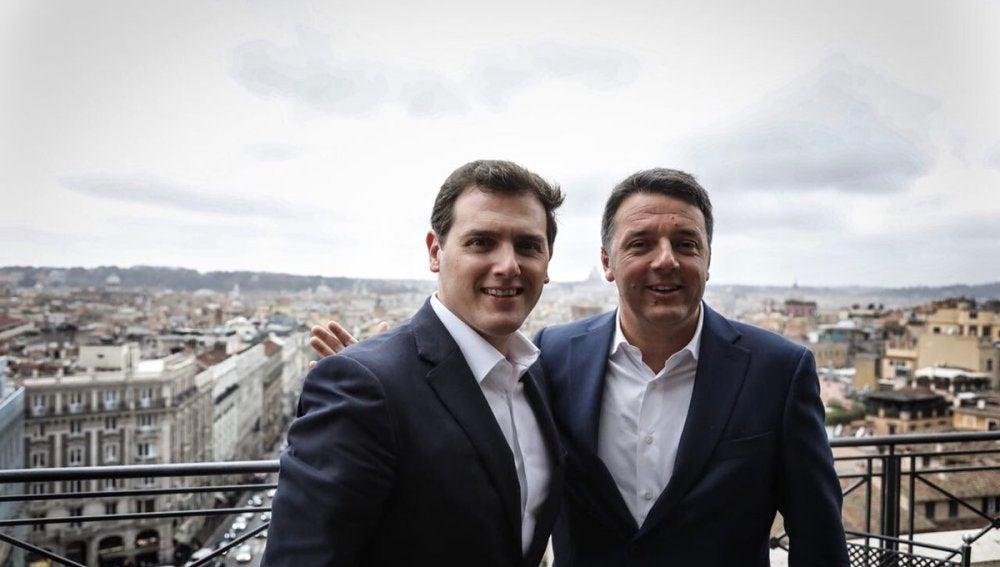 Albert Rivera y Matteo Renzi