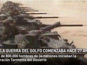 George Bush ordenaba el comienzo de la Guerra del Golfo con la Operación Tormenta del Desierto hace 26 años