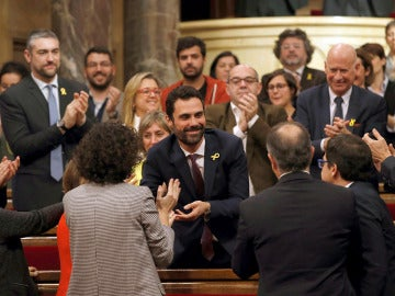 Roger Torrent, nuevo presidente del Parlament