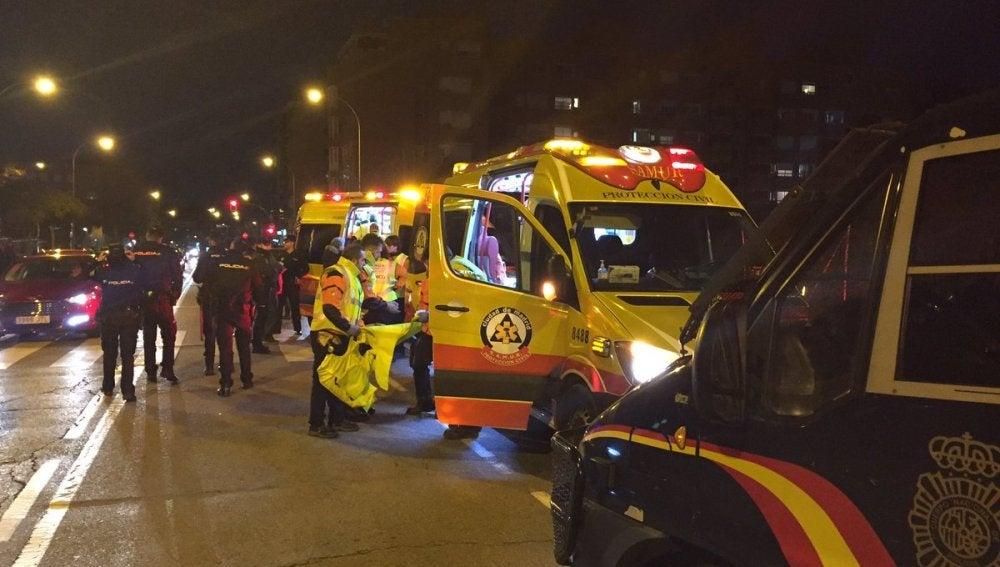 Un joven de 22 años, apuñalado en las proximidades del estadio del Atlético