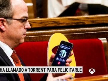 Llamada de Puigdemont a Torrent