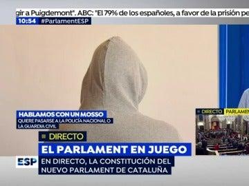 """Josep, un Mosso d'Esquadra, desvela la voluntad de muchos: """"El cuerpo está politizado"""""""