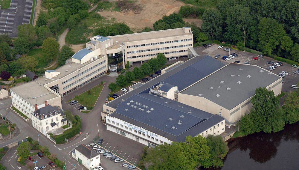 Vista aérea de la planta de Lactalis en Laval