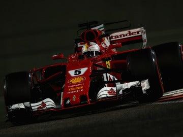 Sebastian Vettel, durante el GP de Abu Dabi de 2017