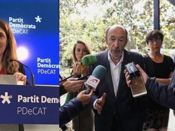 Marta Pascal y Alfredo Pérez Rubalcaba