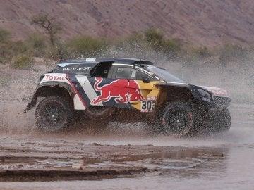 Carlos Sainz, en la etapa del Dakar.