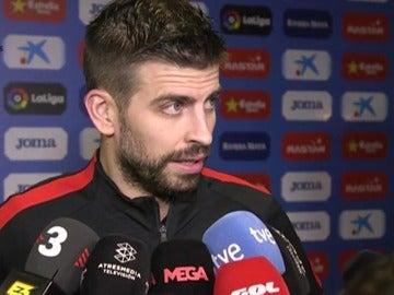 """Piqué, sobre los cánticos de Cornellá: """"Espero que en el Camp Nou no se insulte ni se tiren cosas"""""""