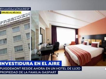 Imágenes del hotel en el que reside Puigdemont en Bruselas