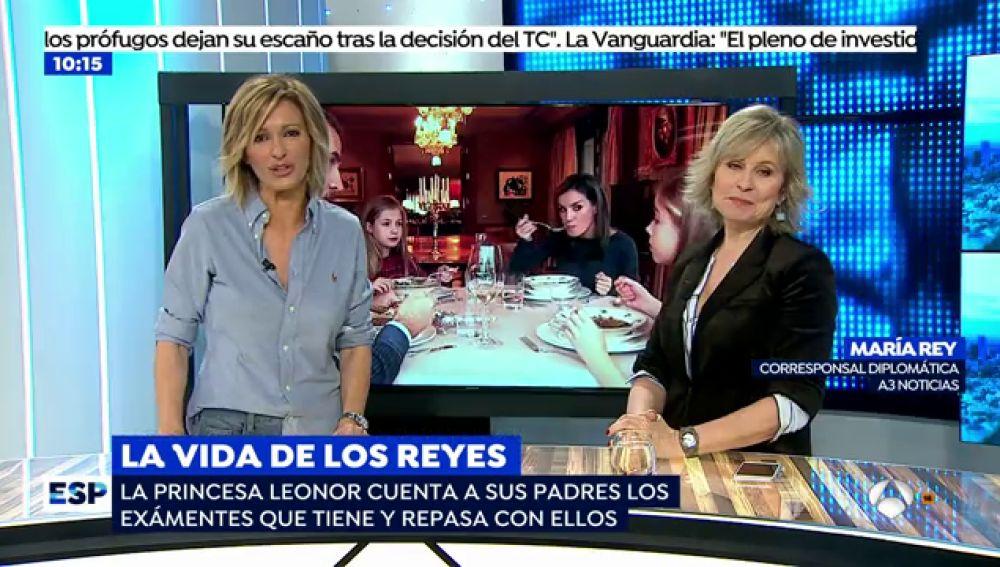 """María Rey: """"El Rey quiere que la princesa Leonor sea consciente de que está viviendo un momento histórico"""""""
