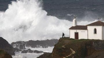 Imagen de archivo de un golpe de mar