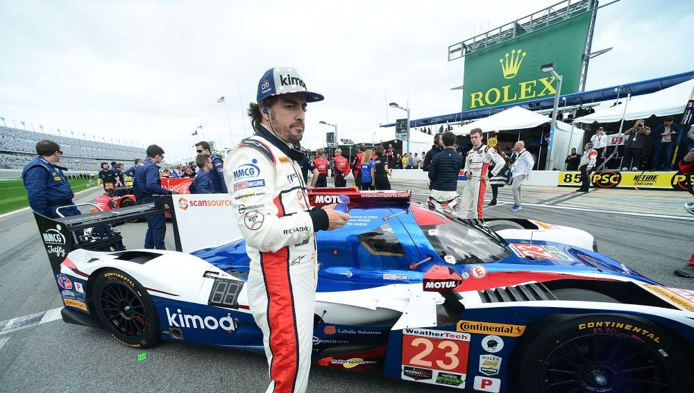Fernando Alonso, durante las 24 horas de Daytona