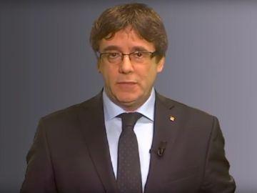 Puigdemont difunde un mensaje en redes sociales