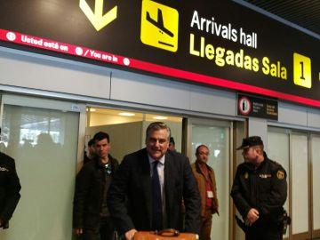 Jesús Silva Fernández, embajador español expulsado de Venezuela, a su llegada a España