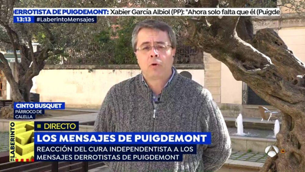 """El párroco de Calella, sobre los mensajes difundidos de Puigdemont: """"Me parece bastante triste entrar en una conversación privada"""""""