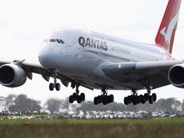 Avión de la aerolínea Qantas