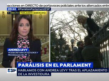 Andrea Levy, en Espejo Público