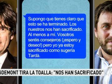 """El abogado de Comín estudia acciones legales tras difundirse mensajes de Puigdemont: """"Moncloa triunfa, esto se ha terminado"""""""