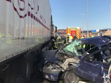 Accidente múltiple en la M-50 deja cinco heridos leves