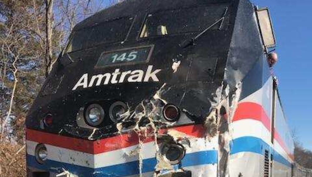 El tren que ha sufrido un accidente en Estados Unidos