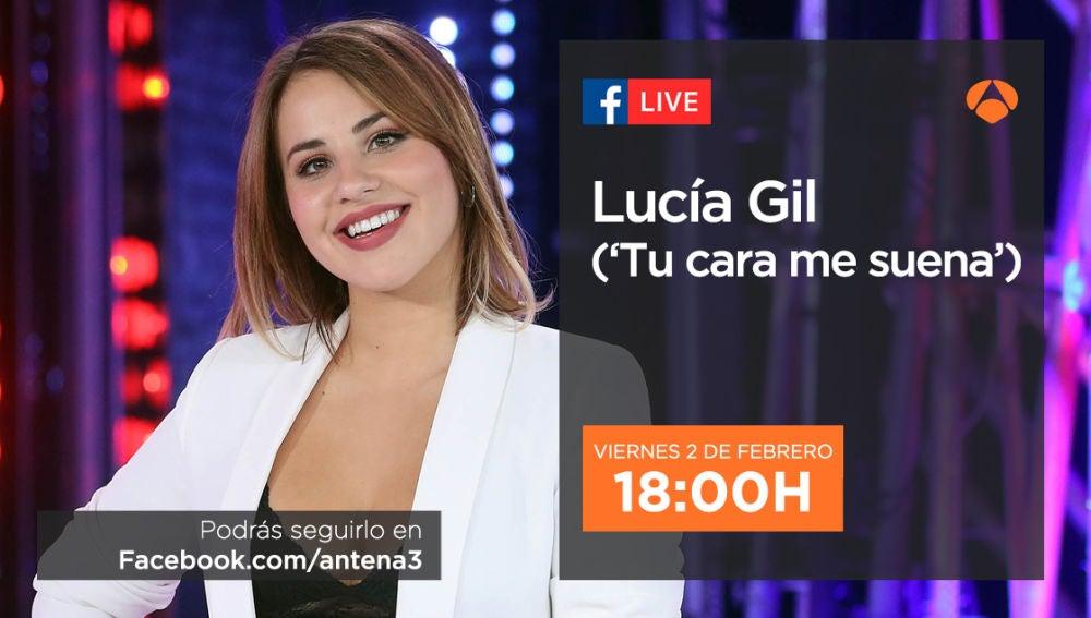 El viernes, Lucía Gil charlará en directo en Facebook Live sobre el 'Especial Eurovisión' en 'Tu cara me suena'
