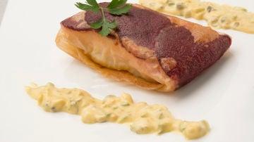 Brick de salmón y remolacha