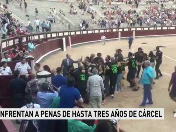 """""""Fue pacífico"""", el argumento que los 29 antitaurinos que saltaron al ruedo de Las Ventas esgrimen en su defensa"""