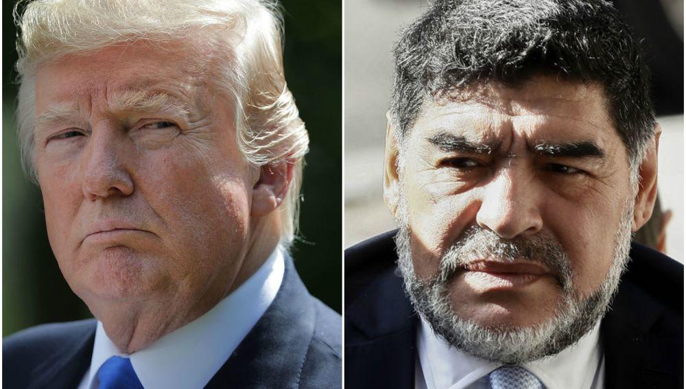 Trump le niega el visado a Maradona