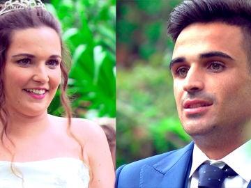 Tamara enamorada y Álvaro decepcionado en el altar