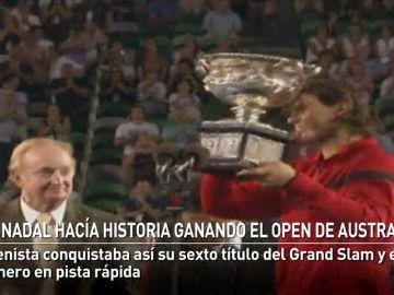 Nadal hacía historia ganando el Open de Australia hace nueve años