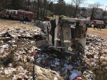 Imagen de la zona en la que tuvo lugar el accidente entre un tren y un camión en Virginia