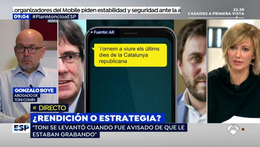 Gonzalo Boye en una entrevista en Espejo Público