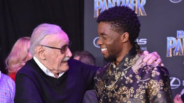 Stan Lee en la premiere de 'Black Panther'