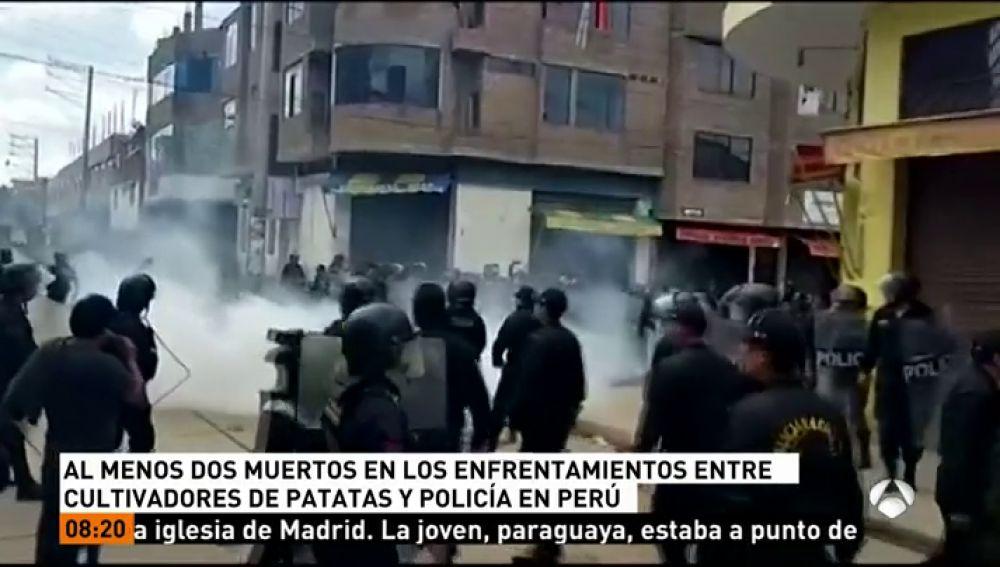 Al menos dos muertos durante una huelga de agricultores de patata en Perú